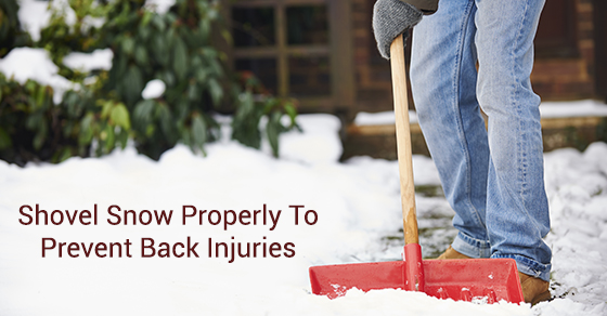 Shovel Snow Properly To Prevent Back Injuries