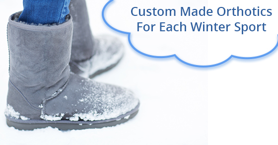 Custom Made Orthotics For Each Winter Sport