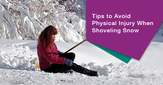 Tips to keep in mind when shoveling snow